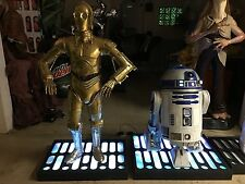 Life Size Star Wars R2D2 and C3P0 Full Size Statues Lights and Sound R2-D2 C-3PO