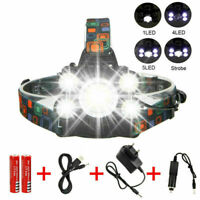 Rechargeable 90000LM T6 LED XPEHeadlamp Headlight Flashlight Head Lamp Fishing