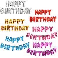 13 tlg Happy Birthday Folienballons Buchstaben Luftballons Geburtstag Deko Party