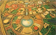 Aerial View of Model for New York Worlds Fair Peace Understanding 1965 Postcard