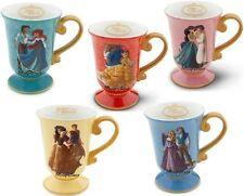All 5 Disney Designer Fairytale Belle Jasmine Ariel Snow Whte Collection Mug