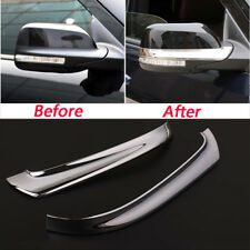 Car Rearview Mirror ABS Chrome Trim Cover 2pcs Fit For Ford Explorer 2015--2017