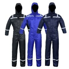 Waterproof Lined Quilted Padded Coverall Tunnel Biker Fishing Suit Winter