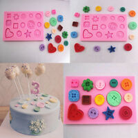 Button Silicone Fondant Mould Chocolate Baking Mold Cake Decor Tool Sugarcraft