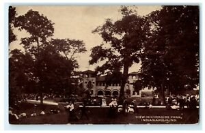 c1910 View of Riverside Park Indianapolis Indiana IN German Antique Postcard