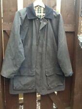 Navy blue Wax Stockman midi jacket Coat large