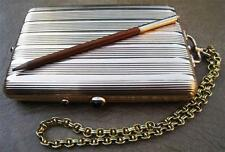"""14K """"56"""" SOLID GOLD and sapphires IMPERIAL RUSSIAN 1900 compact case with pencil"""