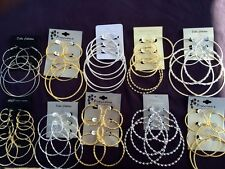 40 Pairs High End Hoop Earrings Wholesale Jewelry Lot ❤️FREE Shipping💘US Seller