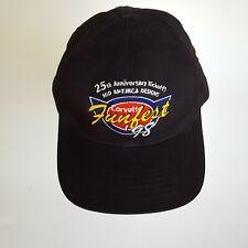 Vintage Mid Am Corvette Funfest '98 Trucker Cap Hat w Pin 25th Anniversary NWOT
