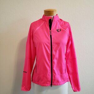 Pearl Izumi Elite Escape Convert Full Zip Jacket Screaming Pink Cycling L- NWT!