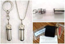 OPEN HEART 2pc. Special Set - CREMATION URN Necklace/Keepsake w/Pouch & Fill Kit