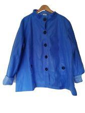 Women's Plus Size XL Blue Fleece Duffle Coat - Ish Jacket