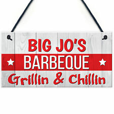 Red Ocean Personalised Barbecue BBQ Grill Patio Garden Gift Hanging Plaque
