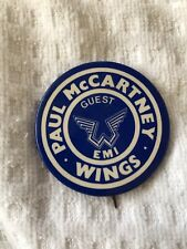 PAUL McCARTNEY And Wings Guest EMI Pinback Button