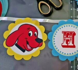 Clifford the Big Red Dog Party Happy Birthday Banner 5 inches high x 8 feet long