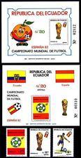 ECUADOR 1982 WORLD CUP SOCCER + 2 S/S VF MNH FOOTBALL (D01)