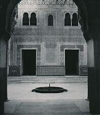 ESPAGNE c. 1950 - Palais nasrides  Salle du Mexuar Alhambra Grenade - Div 10254