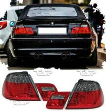 REAR LED TAIL LIGHTS RED+SMOKE FOR BMW E46 00-07 SERIES 3 CABRIO LAMPS