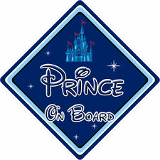 Disney Prince On Board Car Sign - Baby On Board - Disney Castle DB