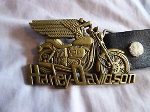 HARLEY DAVIDSON ...BELT BUCKLE..BRASS ..VINTAGE.....