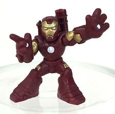 Marvel Super Hero Squad IRON MAN Modern Maroon / Gold Armor w/ Guns on Back