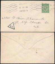 GB KG5 Downey cabeza Perfin 1913 Craig + Rosa.. impreso con 1/2d + Triángulo CE