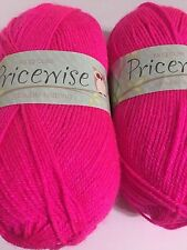 2 Skeins ~ KING COLE Pricewise DK Yarn ~ 100g ~ Candy ~ Knit ~ Crochet