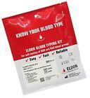 Eldoncard Blood Type Test (Complete Kit) - Air Sealed Envelope, Safety Lancet...