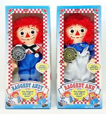 Lot of 2 1996 Hasbro Anniversary Raggedy Andy & Ann Dolls By Johnny Gruelle NRFB