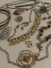 Estate Jewelry Lot Vtg-Modern 10 Good Wearable Items Necklace+Ring+Bracelet+Pin+