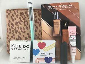 Cosmetic Makeup Lot Too Faced Kaleido Brush Tetris Animal Print Ipsy Bag 7pc
