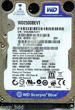WESTERN DIGITAL SATA 250GB WD2500BEVT-60ZCT1,  HACTJHNB