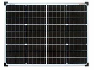 enjoysolar® Monokristallin 50Watt 12V Solarmodul Panel Mono 50W Garten Wohnmobil