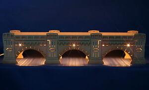 3D Schwibbogen-Sockel 54cm Augustusbrücke Dresden exclusiv Unterbank Erzgebirge