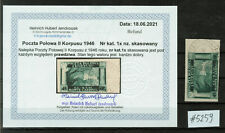 More details for poland - 1945-46 polish corps in italy - imperforated, very rare as used #5259