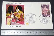ENVELOPPE 1er JOUR PHILATELIE 1966 GRANDS NOMS HISTOIRE FRANCE CHARLEMAGNE 0.60