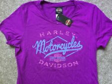 Harley Davidson Twisted Drifter Purple Shirt NWT Women's XS