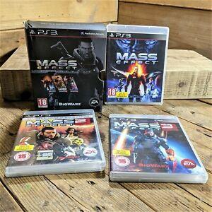 Mass Effect Trilogy (PlayStation 3) Region Free 1, 2 & 3 Box-Set Rare - Bioware