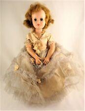 Vintage Doll American Character Doll - Gorgeous Hoop Skirt Dress
