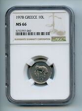 GREECE 1978 10 Lepta KM# 113 NGC MS66 -GAJ #3
