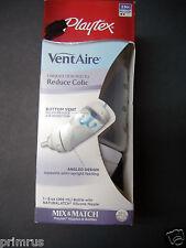 Playtex 9 OZ VentAire Baby Bottle 3 M+ Medium Naturalatch Silicone Nipple