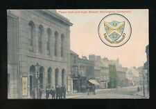 Somerset WELLINGTON High St Town Hall & Arms used 1911  PPC local pub J Cosby