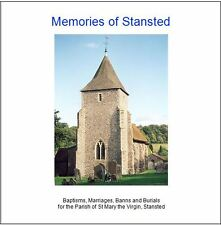 Stansted, Kent -Genealogy CD contains Parish Registers (BMD) Transcripts