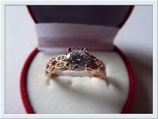 Beautiful Rose Gold /Silver Plated Rhinestone Ring,Cubic Zirconia,Wedding,