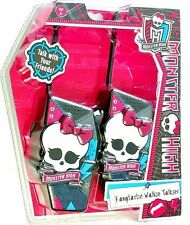Monster High Fangtastic Walkie Talkies w/Push to Talk Buttons and ON/OFF Switch