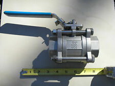 """1 1/2"""" Ball Valve 3 pc Stainless Steel / 316 Sweat 1000WOG BF3K Durco NOS"""