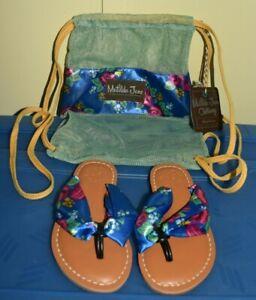 Matilda Jane Brilliant Daydream The Seashore Sandals FlipFlop Toddler Sz 8 NWT