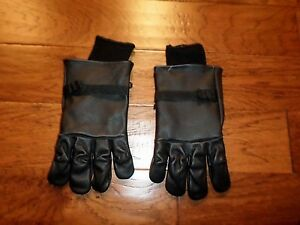 U.S MILITARY STYLE D-3A LEATHER GLOVES COLD WEATHER SIZE 5 LARGE W/LINER
