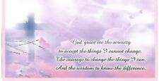 CHECKBOOK COVER WITH SERENITY PRAYER PINK