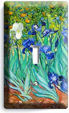 Vincent Van Gogh Irises Flower Garden 1 Gang Light Switch Plate Art Studio Decor
